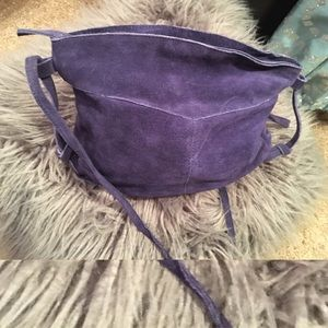Urban Outfitters 💜 purple suede leather crossbody