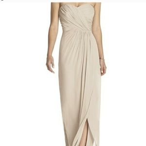 Vivian diamond dessy collection strapless gown