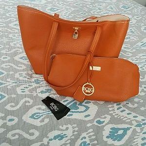 BCBG tote and shoulder bag set