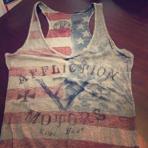 Affliction American Flag Tank