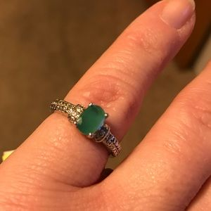 Jewelry - Sakota Emerald Diamond Ring