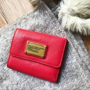 MBMJ Classic Q Small red leather flap wallet