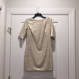 Rachel Rachel Roy cream sequined dress