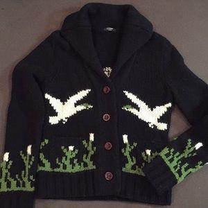 VIntage Jcrew handknit Sweater Cardigan