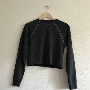 Dark grey cropped sweater