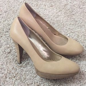 Banana republic tan heels size 9.5