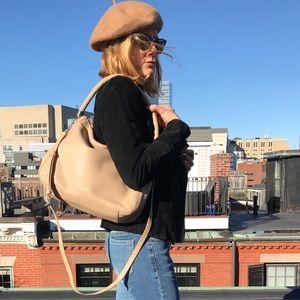 Cole Haan beige/tan leather hobo shoulder bag