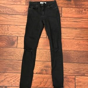 Black Topshop Leigh Jeans