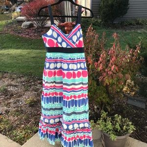 Vineyard vines maxi dress multi color EUC
