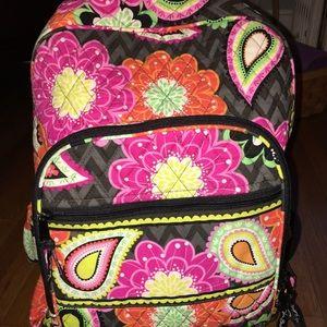 Vera Bradley Backpack. Ziggurat Zinnia pattern.