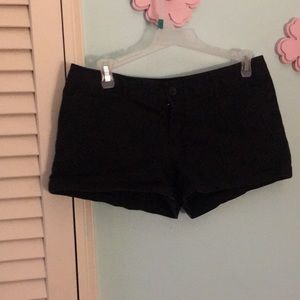 Black low waisted shorts