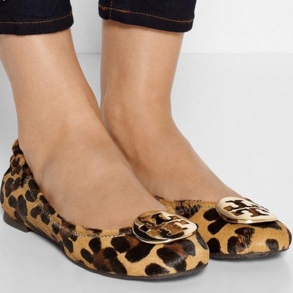 Tory Burch calf hair leopard cheetah reva flats 8
