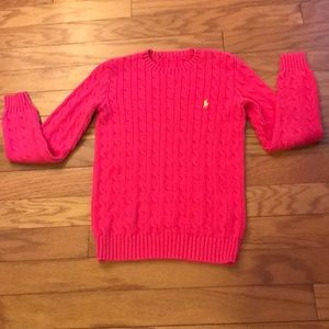 Ralph Lauren Pink Cable Knit Sweater