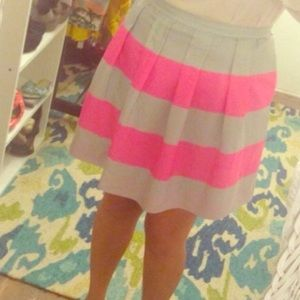 Silver gray and pink J Crew skirt