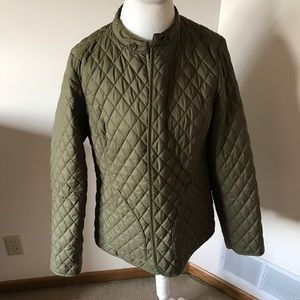 Quilted Military Green Coat