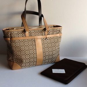 Coach Diaper Bag/Large Bag NWOT with Changing pad