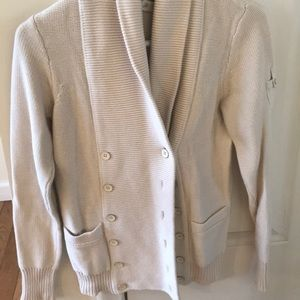 J crew cream and navy chunky cardigan 2 for 1
