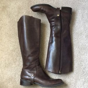 Shoes - Franco Sarto brown equestrian style boots