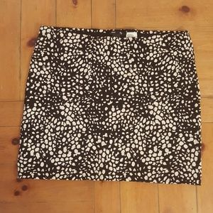 H&M Black White Polka Dot Skirt