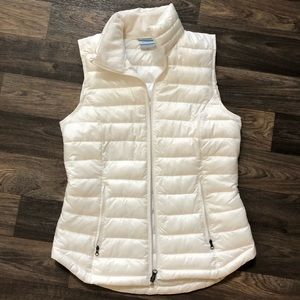 Cream colored Columbia vest!