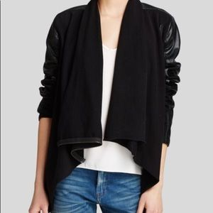 Blank NYC Faux Leather Asymmetrical jacket