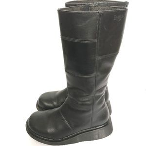 Dr. Martens Tall Zip Up Black Boots Size 6 Goth