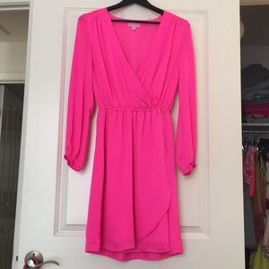 Lilly Pulitzer long sleeve pink dress