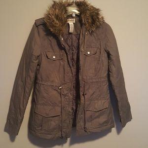Mudd army jacket with fur
