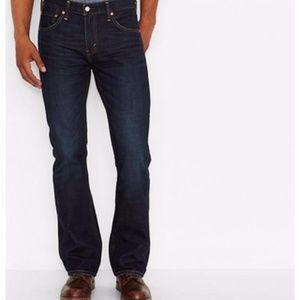 NWT Levi's 527 Jeans 33X30 Indigo Black, Dark Wash