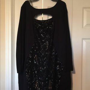 Lane Bryant formal black dress