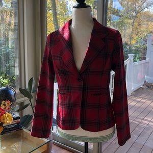 Jackets & Blazers - NWOT ✂️ • Red Plaid Blazer