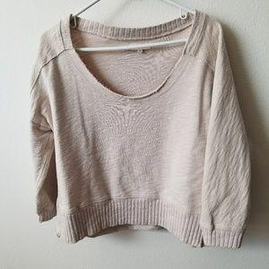Madewell cropped sweater/sweatshirt