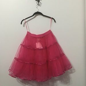 Fabulous Pink Kate Spade Tulle Skirt M L Party