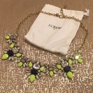 j. crew statement necklace with bag