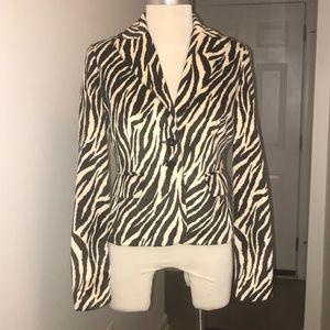 ABS by Allen Schwartz zebra print blazer Sz 2😘😘