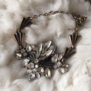 New! J.Crew Crystal Flower & Brass Bracelet