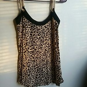 Kardashian Kollection Leopard Print Rope Tank Top