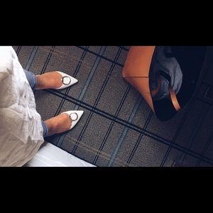 Zara White Pointed Flats