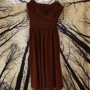 Zara basic XS rust formal gown nwt!