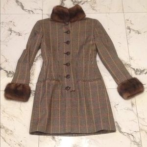 Valentino coat with mink trim