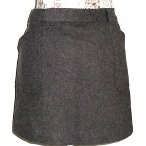 J. Crew wool blend gray skirt sz. 6 NWT New