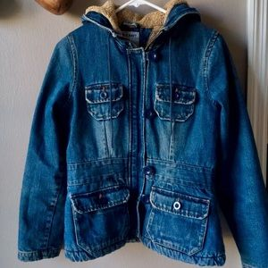 Old Navy Women's Denim Sherpa Lined Jacket SZ. S