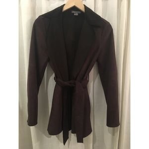 Vince brown suede wrap jacket sz xs