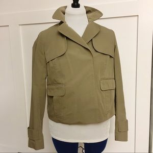Gap cropped length trench style lightweight jacket