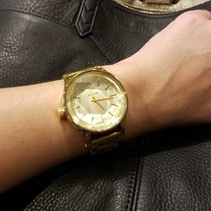 Nixon The Facet Gold Watch