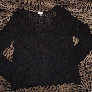 Decree Black Lace Top Large