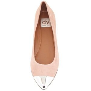 Dolce Vita Suede Blush Flats Silver toe
