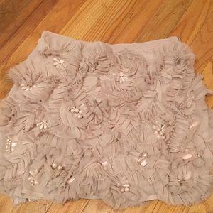 ASOS Pink Beaded Ruffle Skirt