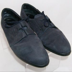 Rockport blue suede lace up comfort loafers 8.5