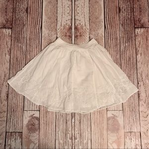 Banana Republic Petite White Skirt